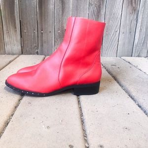 BRAND NEW TOP SHOP RED BOOTIES